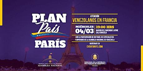 Plan País París tickets