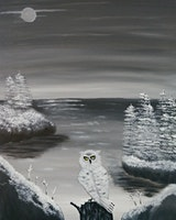 Paint & Sip- Snow Owl
