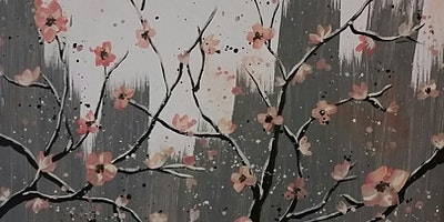 BYOB Cherry Blossoms on Canvas at Flow