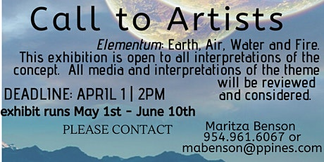 Call to Artist for Elementum tickets