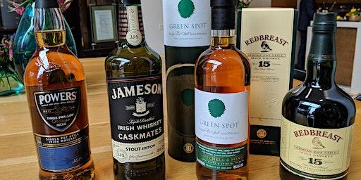 Whiskey on High: Irish Whiskey Tasting March 13th