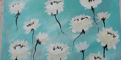 BYOB Peonies on Canvas at Flow