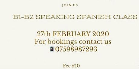 Intermediate Speaking Spanish Class tickets