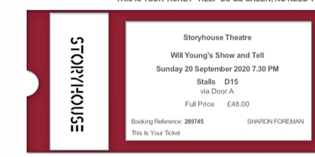 Will Young Show and Tell tickets