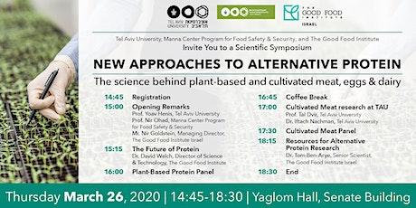 New Approaches to Alternative Protein - Tel Aviv University billets