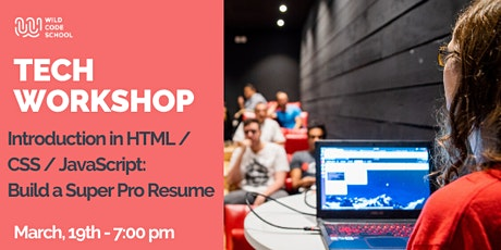 Tech Workshop - Build a Super Pro CV with HTML/CSS and JavaScript tickets