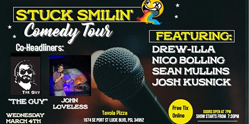 "Comedy Night with ""Stuck Smilin"" at Tavola Pizza"