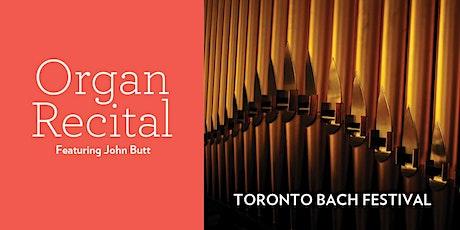 Toronto Bach Festival Organ Recital tickets
