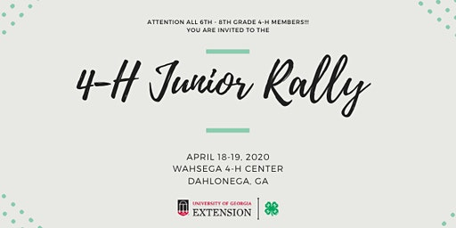 Junior Rally at Wahsega 4-H Center