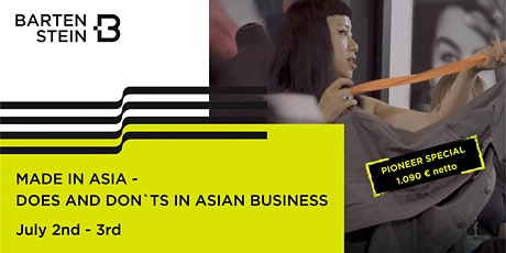 MADE IN ASIA - DOS AND DON'TS IN ASIAN BUSINESS Tickets