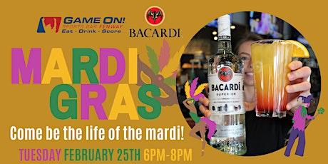 Bacardi Rum Mardi Gras at Game On Fenway! tickets