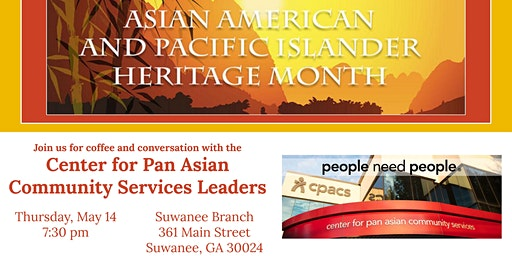 Join us for Coffee with the Center for Pan Asian Community Service Leaders