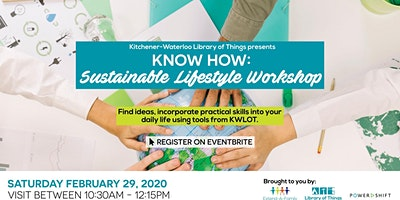 KW Library of Things KNOW HOW: Sustainable Lifestyle Workshop