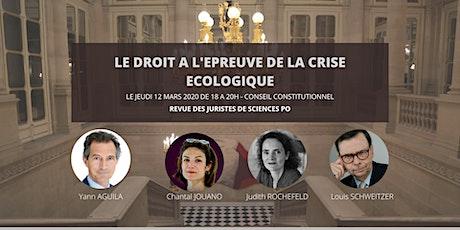 Conférence RJSP : Le droit à l'epreuve de la crise écologique billets