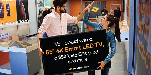 "Win a 65"" Smart TV Plus other prizes"