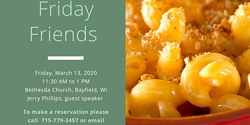 Friday Friends March 13 Mac & Cheese