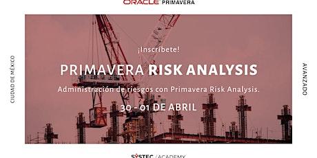Primavera Risk Analysis entradas