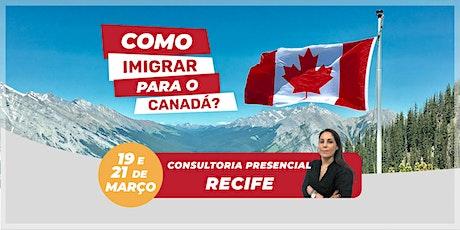 Recife - Consultoria Presencial: Como Imigrar para o Canadá? ingressos