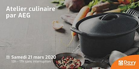 Atelier culinaire par AEG - 21/03 - Dovy Tournai billets