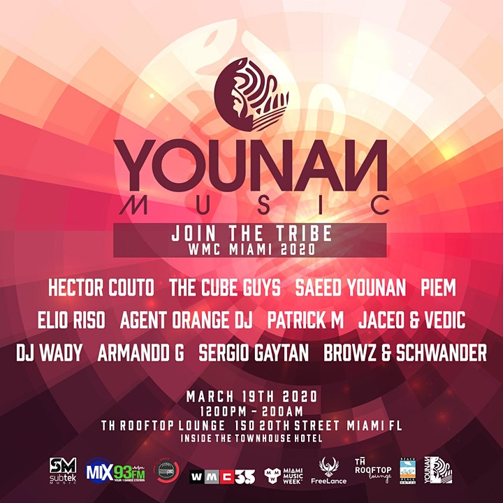 Younan Music / Join the Tribe Miami Music Week 2020 image