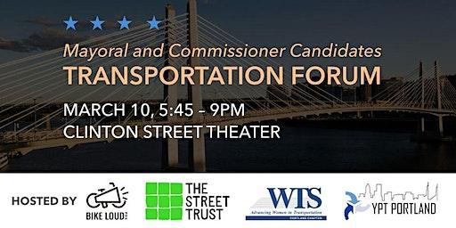 Support Sarah at the Portland Mayoral Transportation Forum!