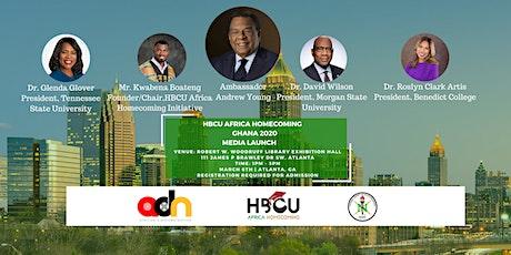 HBCU Africa Homecoming Ghana 2020 U.S. Media Launch tickets