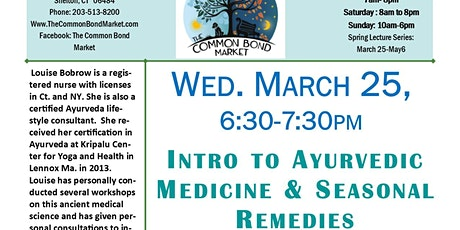 Intro to Ayurvedic Medicine & Seasonal Remedies tickets
