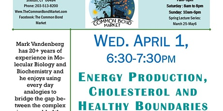 Energy Production, Cholesterol and Healthy Boundaries tickets