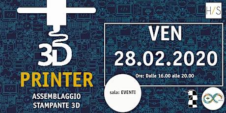 Workshop-evento assemblaggio stampanti 3D con l'AUGC e Laboratorio K biglietti