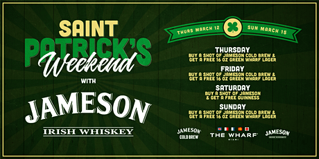 Jameson presents St. Patrick's Weekend at The Wharf Miami tickets