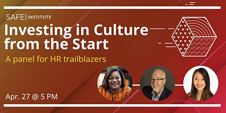 Investing in Culture from the Start tickets
