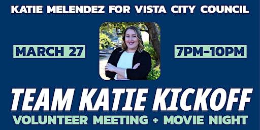 Team Katie Kick-off: Volunteer Meeting + Movie Night