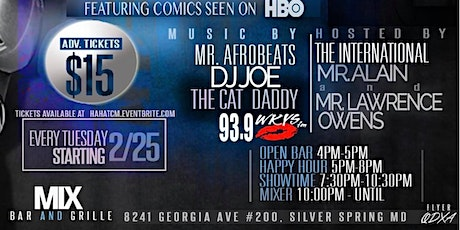 Tuesday Comedy Mix Show as senn on HBO! tickets