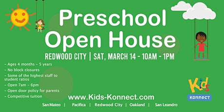 Preschool & Infant Center Open House, Redwood City tickets