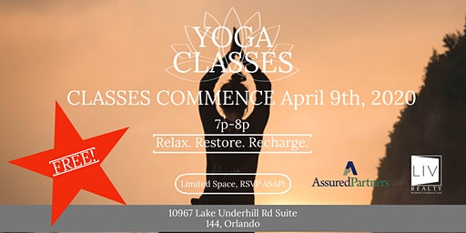 Yoga Classes : Relax. Restore. Recharge.