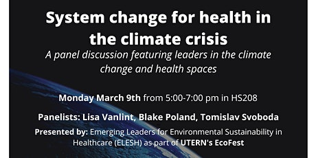System change for health in the climate crisis tickets