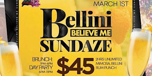 Bellini Believe Me Sundaze Brunch Party at Hudson Station