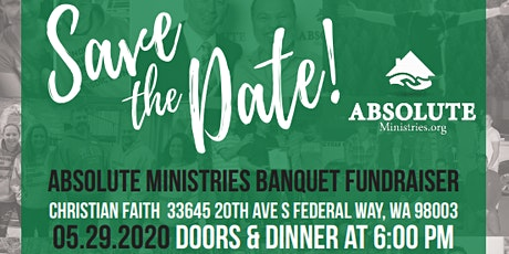 ABSOLUTE Ministries Fundraiser Banquet 2020 tickets