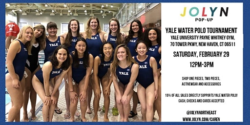 Yale Women's Water Polo Tournament and Jolyn Trunk Show!