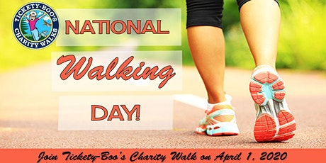 POSTPONED -Tickety-Boo's National Walking Day Charity Walk at Dodge Park tickets