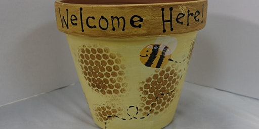 BYOB Bee Terra Cotta Pot at Flow
