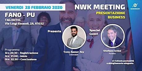 PBM presentazione business meeting Fano biglietti