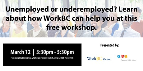 What is WorkBC? A Free Workshop (Champlain Heights) tickets