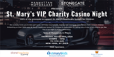 UPDATE: MMC x Stonegate VIP Charity Casino Night