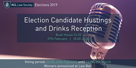 Election Candidate Hustings and Drinks Reception tickets