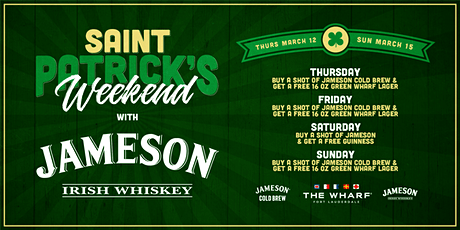 Jameson presents St. Patrick's Weekend at The Wharf Fort Lauderdale tickets