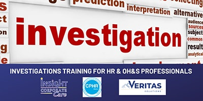 Investigations Training for HR and OH&S Professionals