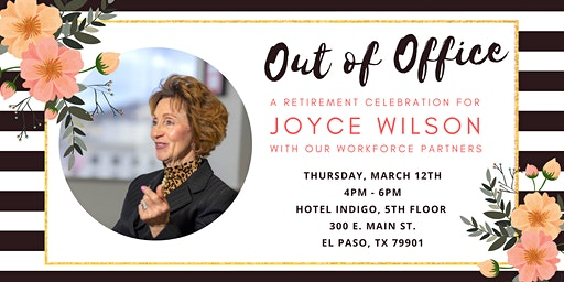 Out of Office:   A Retirement Celebration for Joyce Wilson