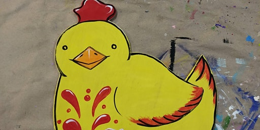 BYOB Chicken Wood Cutout Decor at Flow