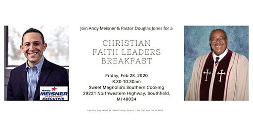 Christian Faith Leader Breakfast with Andy Meisner & Virgie Rollins